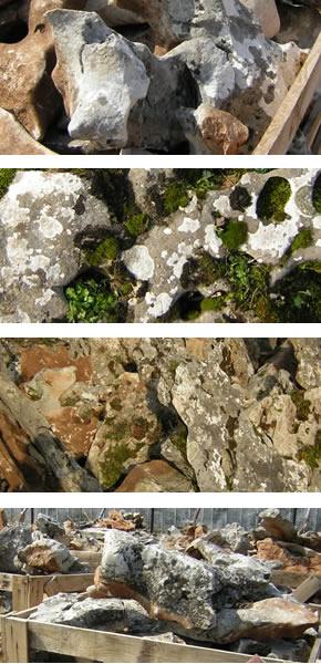 2/12/2 Бели камъни от мрамор на тон