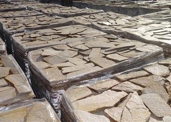 Sandy-gold Polygonal Plates
