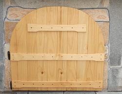 Дървена вратичка за мивка