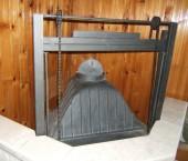Стъклена врата за камина