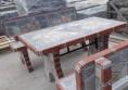 бетонна градинска маса с камък и мозайка (5)