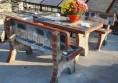градински комплект маса с пейки