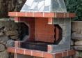 градинска камина за скара на жар