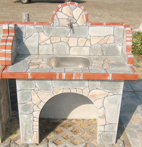 RAIMAR Sole Ltd manufactures a full range of garden furniture barbecues ovens washbasins tables benches flowerpots etc The items are produced of handmade reinforced cement panels clad in natural stone