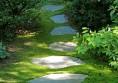 градинска пътека с тревна фуга